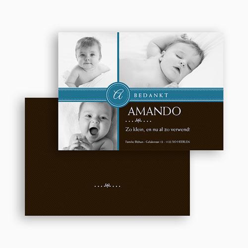 Bedankkaartje geboorte zoon - Jongetje om in te pakken 19119 thumb