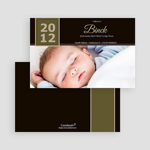 Geboortekaartje jongen - Sober door eenvoud 19122 thumb