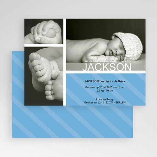 Geboortekaartje jongen - Hemelblauwe stralen 19132 thumb