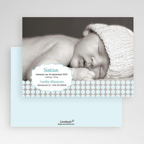 Geboortekaartje jongen - Zacht grijs blauw 19164 thumb