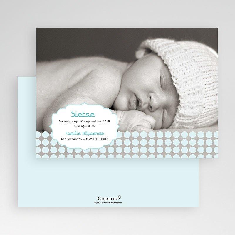Geboortekaartjes Jongen Zacht grijs blauw gratuit