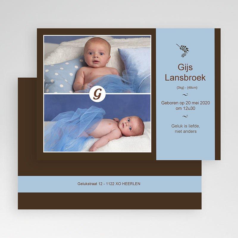 Geboortekaartje jongen - Een dubbel gezicht 19165 thumb