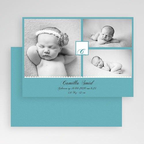 Geboortekaartje meisje - Koning Azuur 19166 thumb