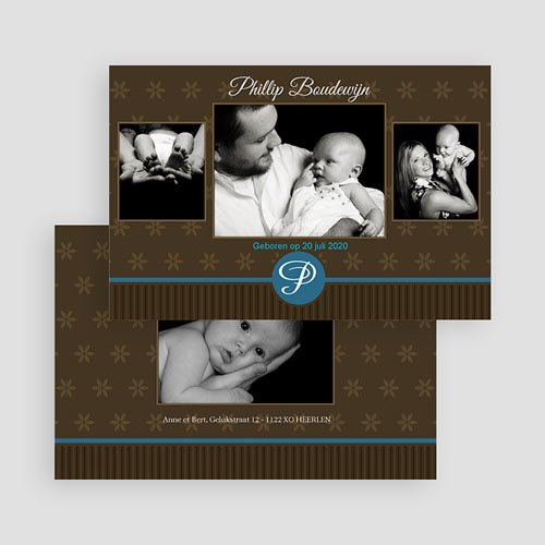 Geboortekaartje jongen - Prinselijk geschenk 19168 thumb
