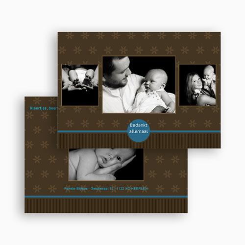 Bedankkaartje geboorte zoon - Prinselijk geschenk 19169 thumb