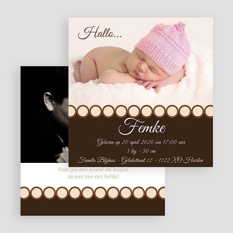 Geboortekaartjes Meisje Ons snoepje gratuit