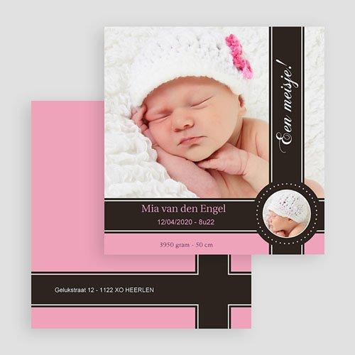 Geboortekaartje meisje - Een roze bonbon 19201 thumb