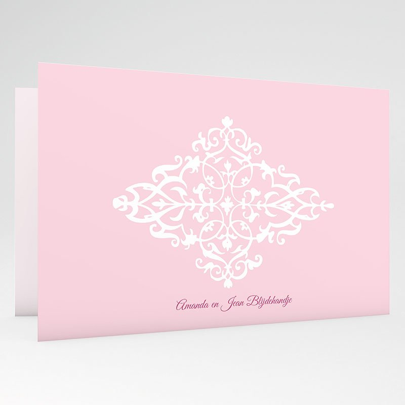 Geboortekaartje meisje Roze dutch design gratuit