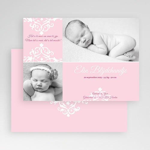 Geboortekaartje meisje - Roze dutch design 19210 thumb