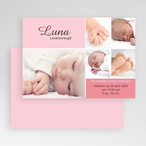 Geboortekaartje meisje - Softe mozaiek 19241 thumb