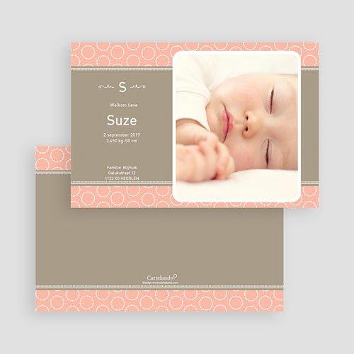 Geboortekaartje meisje - Zalmroze dromen 19255 thumb