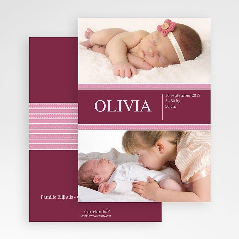 Geboortekaartjes Meisje Wonderland baby gratuit