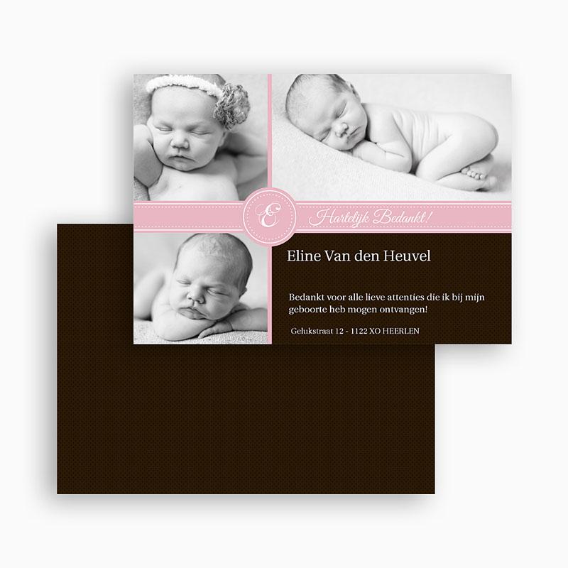 Bedankkaartje geboorte dochter - Ons meisje op de kaart 19290 thumb
