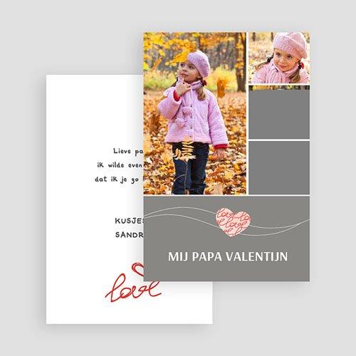 Valentijnskaarten - Valentijnskaartje grijs 19566 thumb