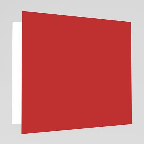 Trouwkaarten met foto - Vierluik in rood 19610 thumb