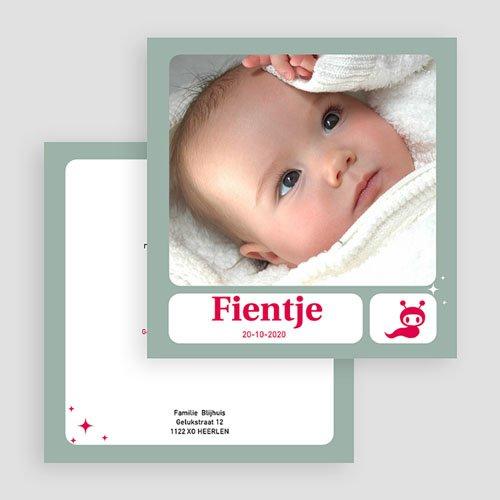 Geboortekaartje meisje - Vierkant de beste 19615 thumb