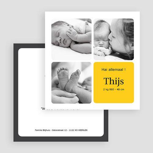 Geboortekaartjes Meisje Vier foto's vormgeving gratuit