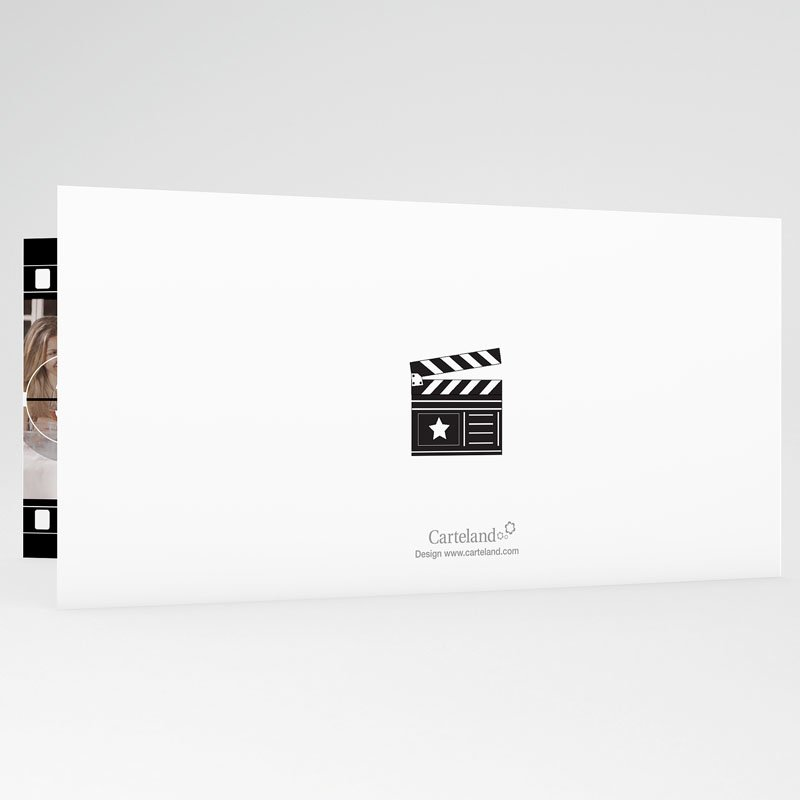 Trouwkaarten Zwart Wit - Net als in de film 19621 thumb