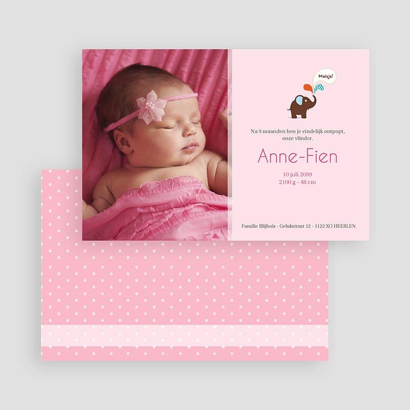Geboortekaartje meisje - Pink Lady 19655 thumb