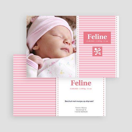 Geboortekaartje meisje - Roze aandenker 19661 thumb