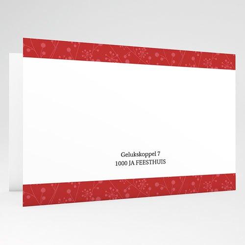 Trouwkaarten met Foto Uitzicht in rood gratuit