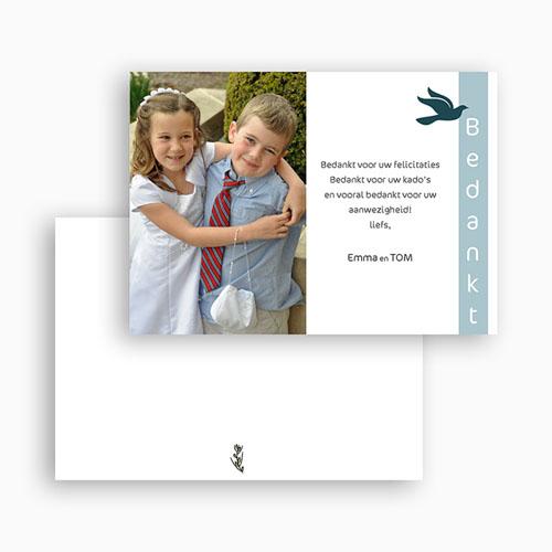 Bedankkaart communie jongen Communieviering staand gratuit