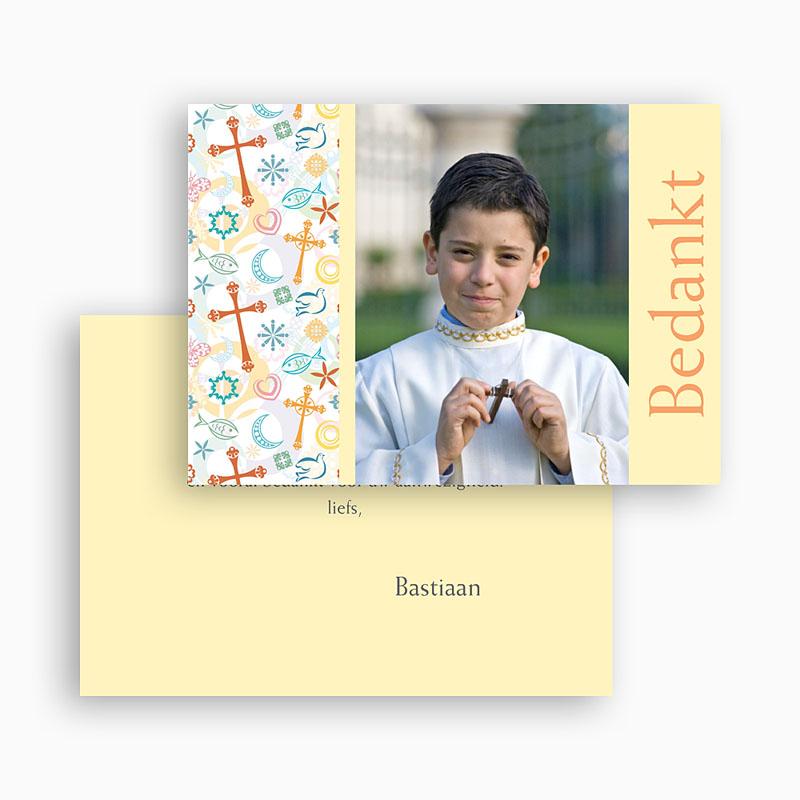 Bedankkaartjes Communie Jongen Tussen de symboliek gratuit