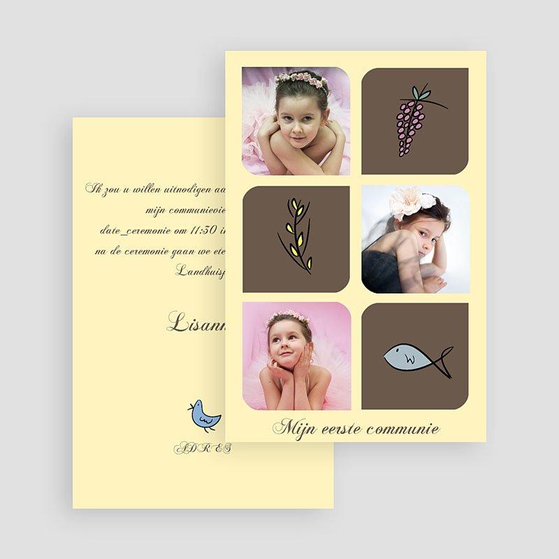 Uitnodigingen Communie Meisje Foto's en symbolen gratuit