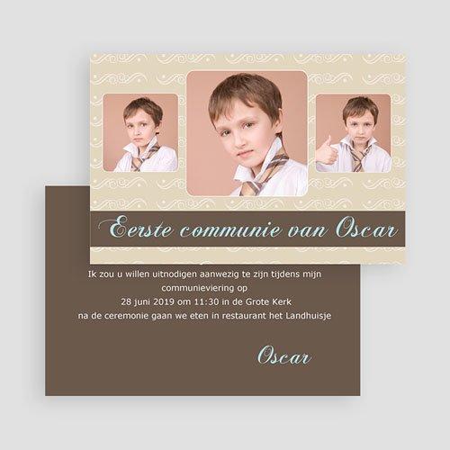 Uitnodigingen Communie Jongen Kom ook! gratuit