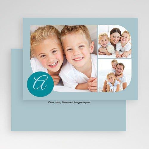 Multi fotokaarten, meerdere foto's Blauw multifoto gratuit