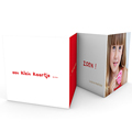 Multi fotokaarten, meerdere foto's - Drie foto's rood kader 19802 thumb