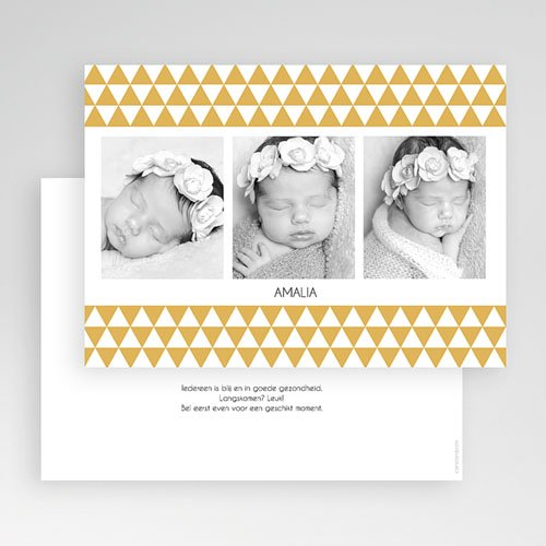 Geboortekaartje meisje - Klassiek retro 3 foto's 19839 thumb