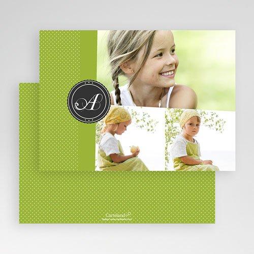 Multi fotokaarten, meerdere foto's Anijsgroen met stipjes gratuit