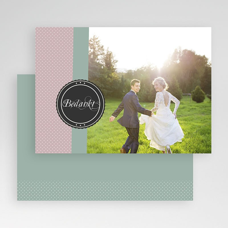 Fotokaart, 1 eigen foto frisgroen gratuit