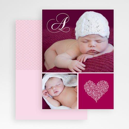 Fotokaarten met 2 foto's - Donker oudroze twee foto's  19918 thumb