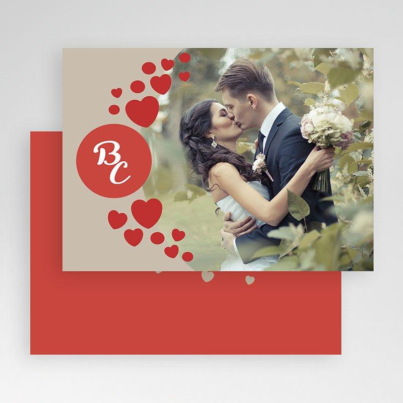Fotokaart, 1 eigen foto Love & Thanks gratuit