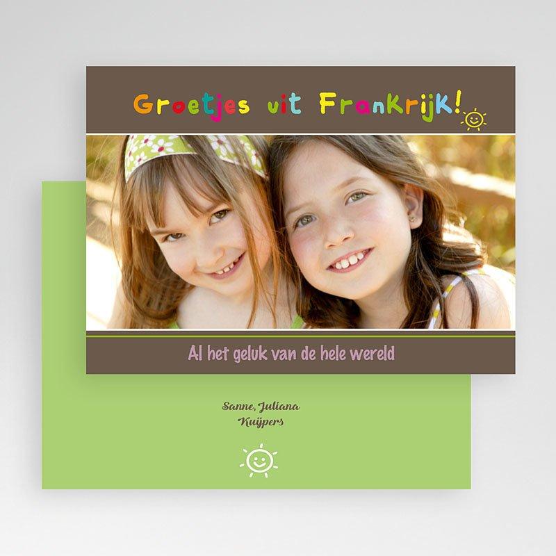 Fotokaart, 1 eigen foto - Coloured Smiles 19923 thumb