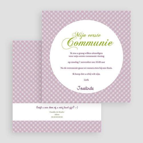 Uitnodiging communie meisje - Uitnodiging communie - Heilige momenten - zokaartj 20042 thumb