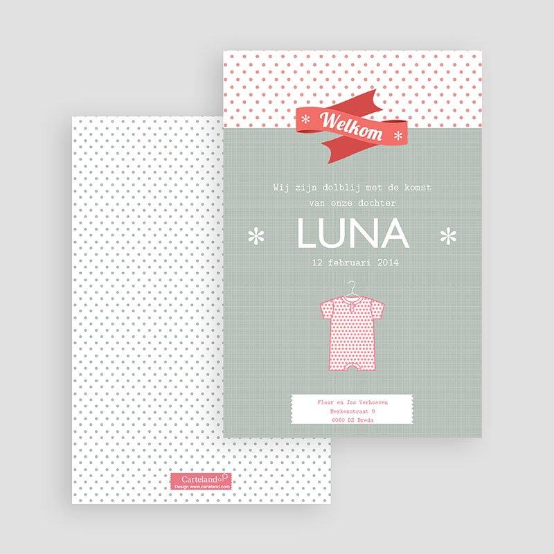 Geboortekaartje meisje Hempje Luna gratuit