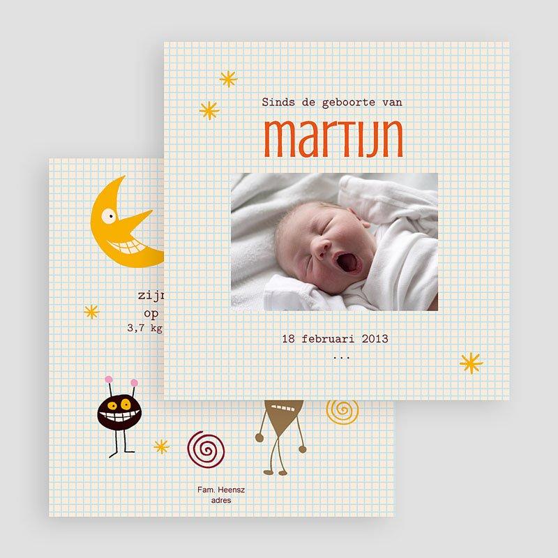 Geboortekaartje jongen - geboorte Martijn 20233 thumb