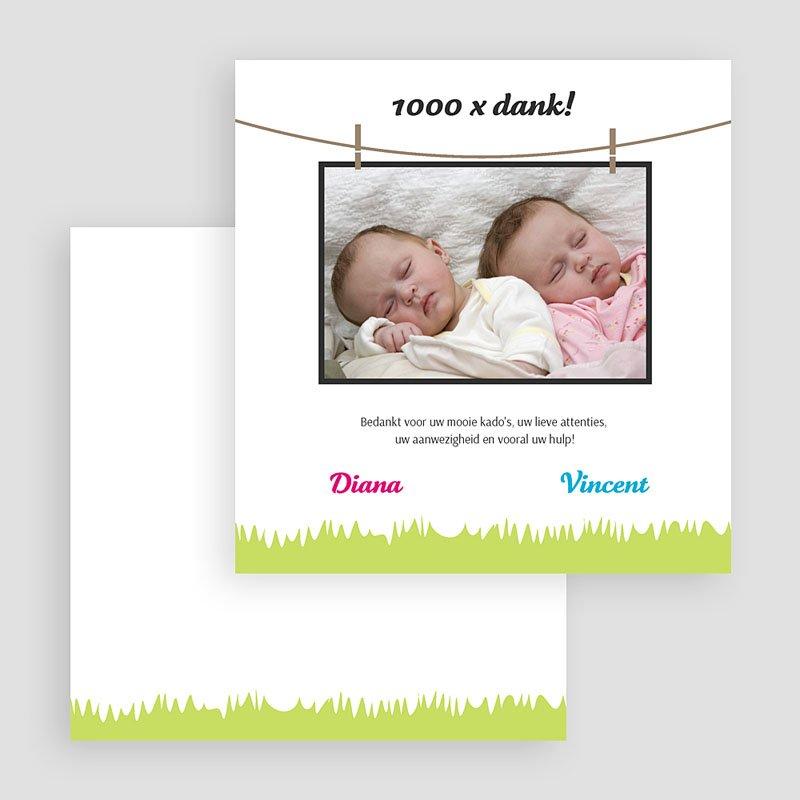 Bedankkaartje geboorte dochter - In het veld 20273 thumb
