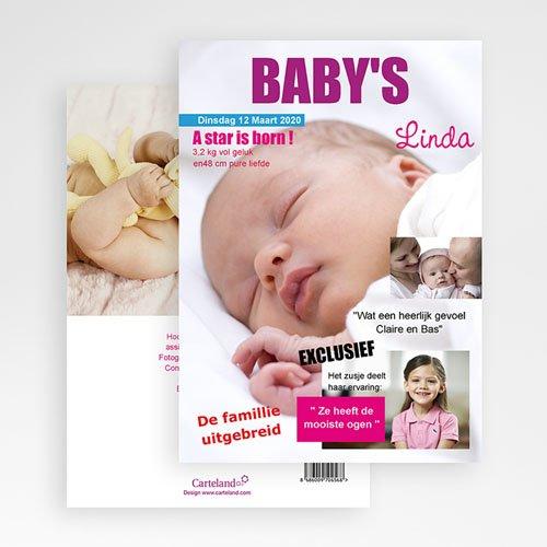 Geboortekaartje meisje - Baby cover 20279 thumb