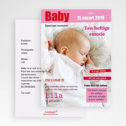 Geboortekaartje meisje - Tijdschrift baby 20282 thumb