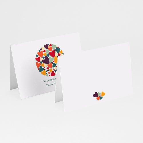 Personaliseerbare plaatskaartjes voor verjaardag - Hartjes bij elkaar 20534 thumb