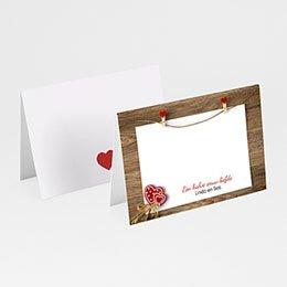 Plaatskaartjes Anniversaire mariage Hart voor hout