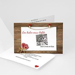 Uitnodiging Anniversaire mariage Hout, Mahonie, Ceder