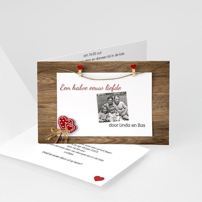Jubileumkaarten huwelijk - Hout, Mahonie, Ceder 20596 thumb