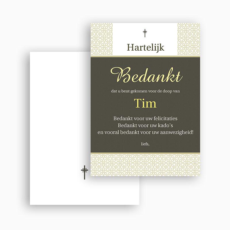 Bedankkaart doopviering jongen traditioneel gratuit