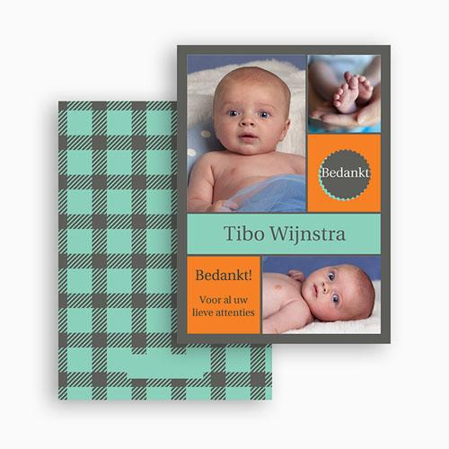 Bedankkaartje geboorte zoon - voor hem en haar 21020 thumb