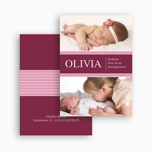 Bedankkaartje geboorte dochter - Wonderland baby 21023 thumb
